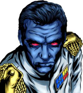 Uma ideia de como seria um grão-almirante de pele azulada e olhos vermelhos.