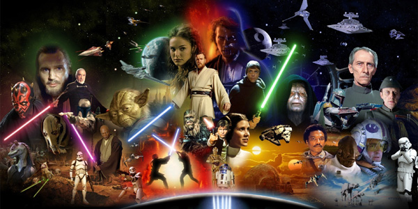 Os personagens principais dos 6 filmes